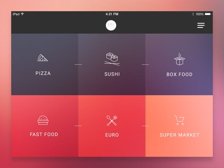 Hello Dribbble! Here's my debut shot. A huge thanks to @Gabriele Locci for invitation.  I'd like to present you minimalistic food app. Hope you like it!