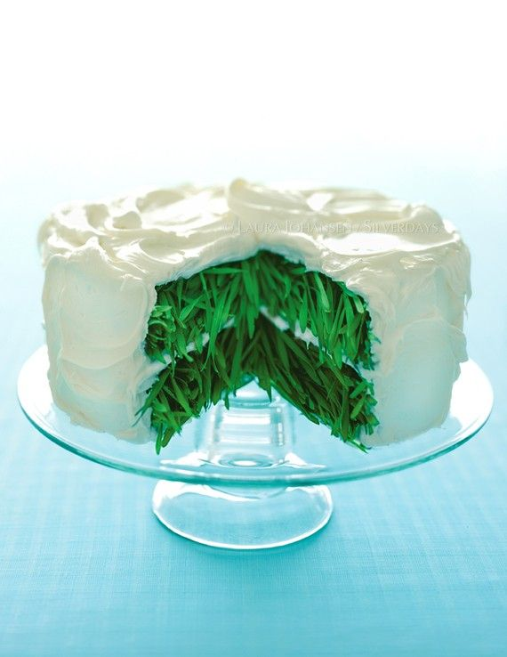 Grass Cake with Vanilla Frosting Fine Art Photograph by Bunderful, $28.00