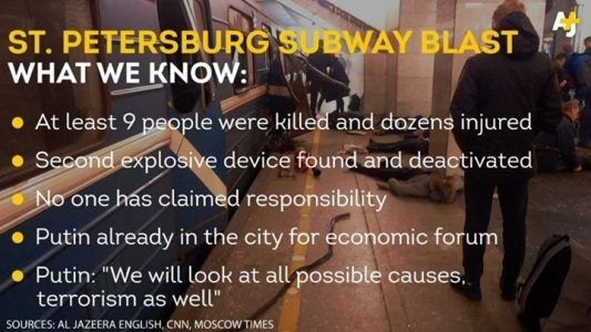 A bomb killed at least 9 people and wounded dozens of others on a subway train in St. Pete #news #alternativenews