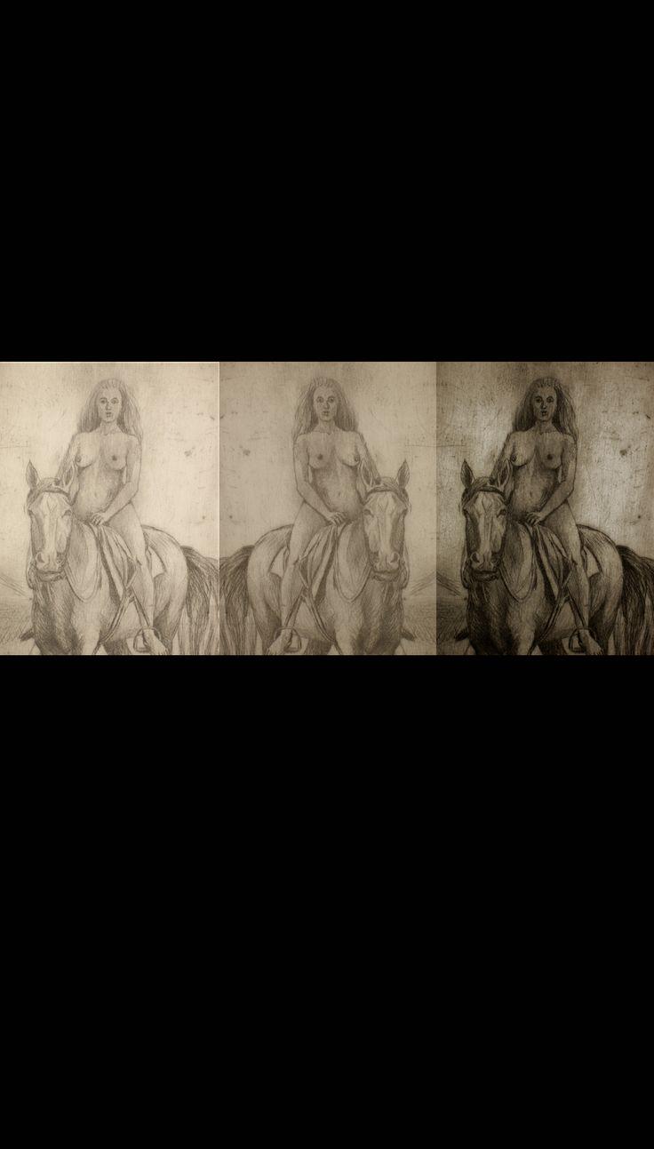 1.gravura nud calare