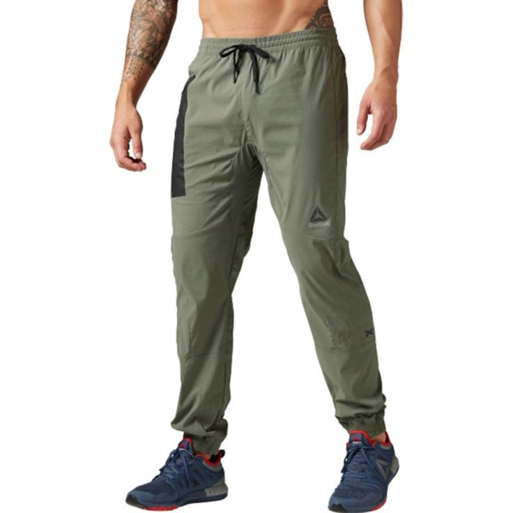 Reebok Men's Elite Woven Jogger Pants, Size: Medium, Green
