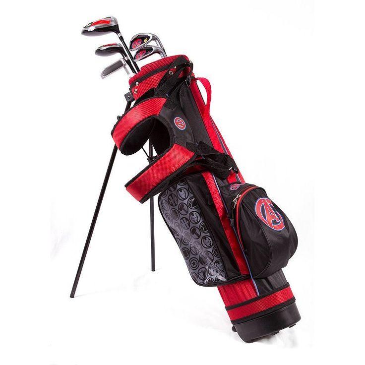 Kids Marvel Avengers 6-8 Years Junior Golf Club & Stand Bag Set, Multicolor