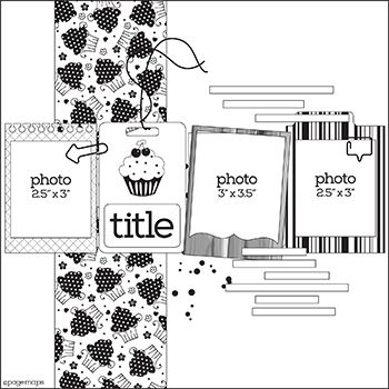 May 2015 PageMaps - 12x12, 4-photo layout or could use cute project life cards or silhouette cuts