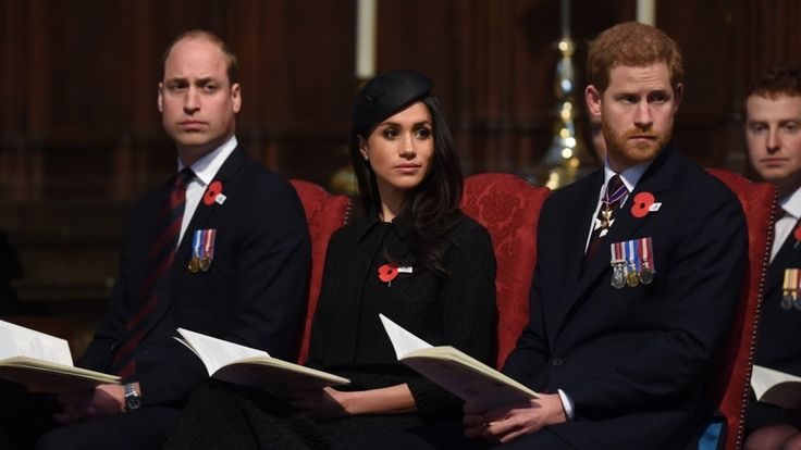 Prince Harry, Meghan Markle and the Duke of Cambridge attend London reme...