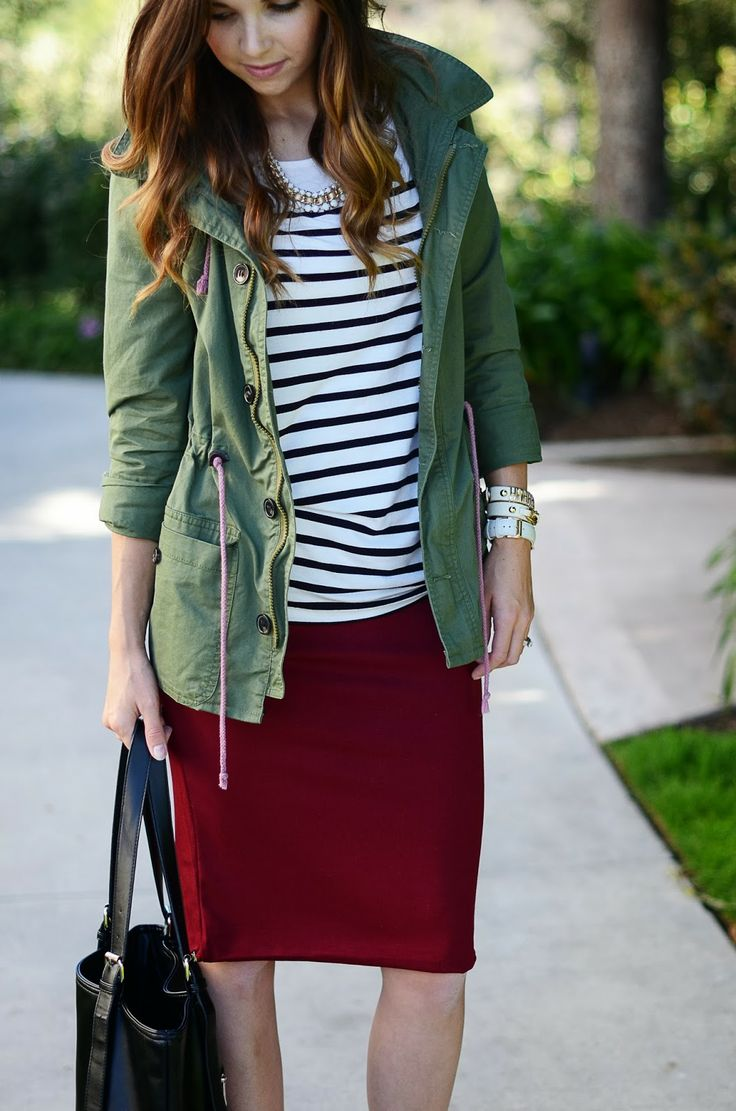 25  best ideas about Burgundy skirt on Pinterest | Winter ...