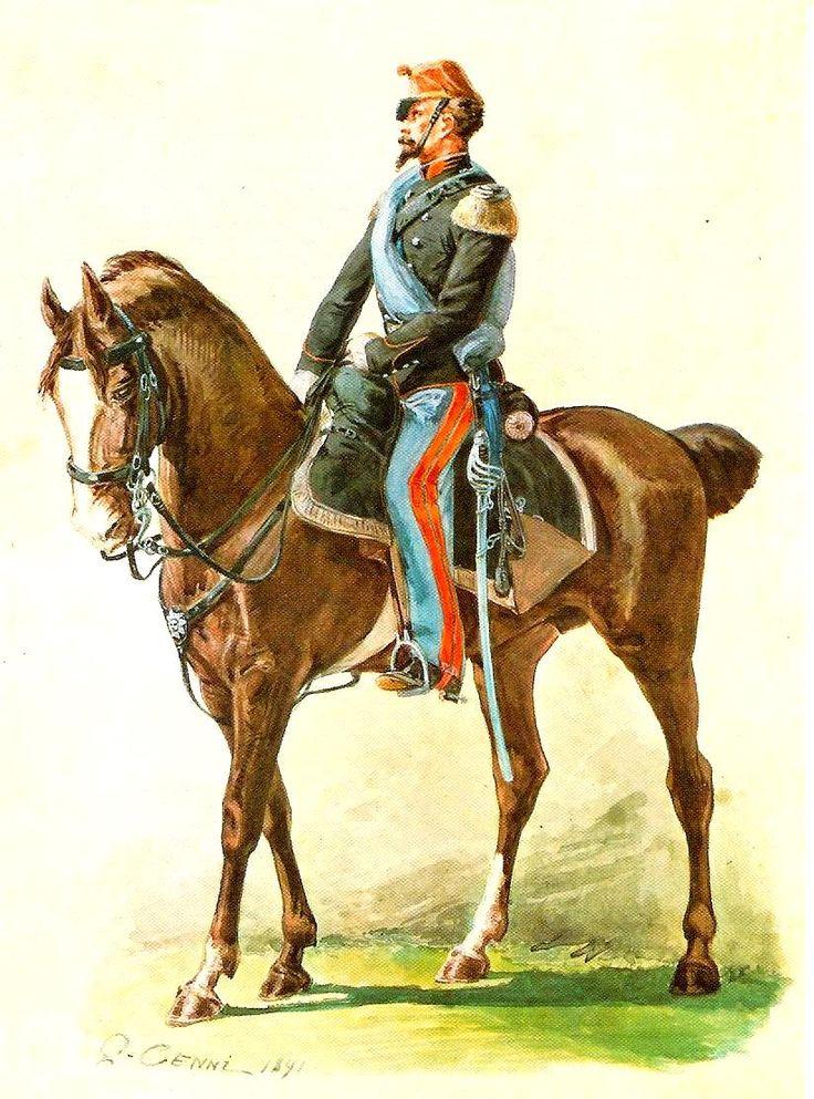 Tenente dei Cavalleggeri di Alessandria nel 1859
