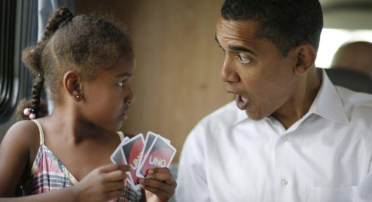 President Obama with Sasha