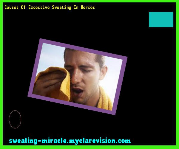 Causes Of Excessive Sweating In Horses 122503 - Your Body to Stop Excessive Sweating In 48 Hours - Guaranteed!