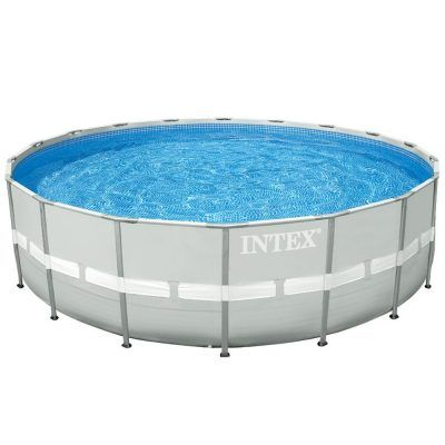 Intex 16Ft X 48In Ultra Frame Pool Set with Cartridge Filter Pump & Saltwater System