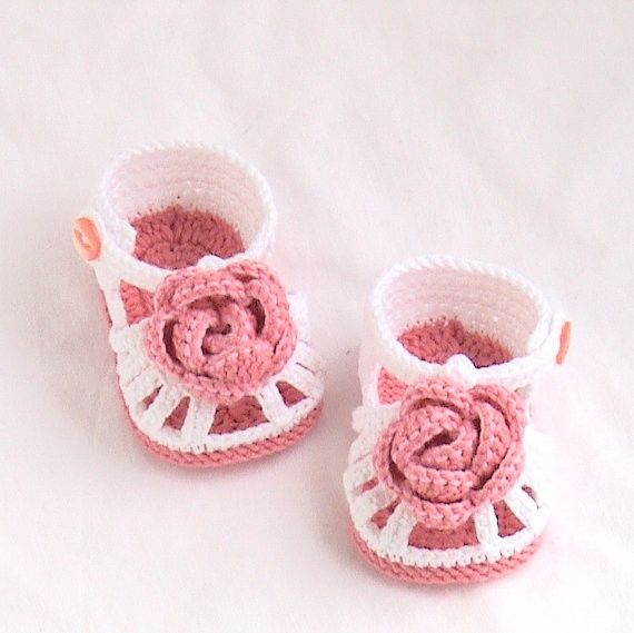 >> Click to Buy << Crochet baby shoes,baby sandals Crochet white sandals,Crochet rose sandals,Crochet rose booties MADE TO ORDER size 9cm 10cm 11cm #Affiliate