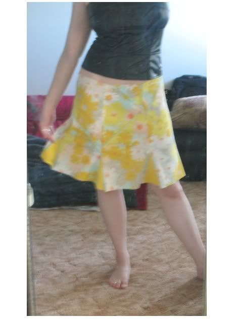 godet pillowcase skirt tutorial with way to bias cut small amounts of fabric - uses some cool embellished seaming