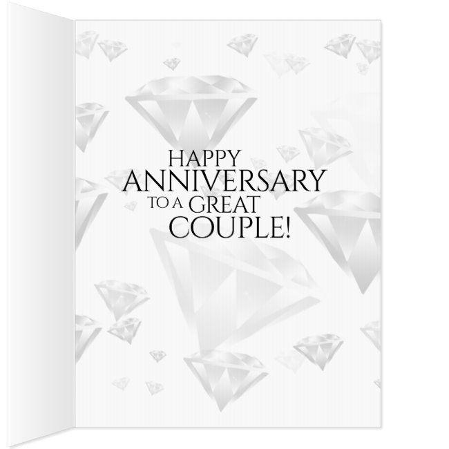 Large 60th Diamond Wedding Anniversary Card Affiliate Wedding Anniversary Ca Diamond Wedding Anniversary Cards Wedding Anniversary Cards Anniversary Cards