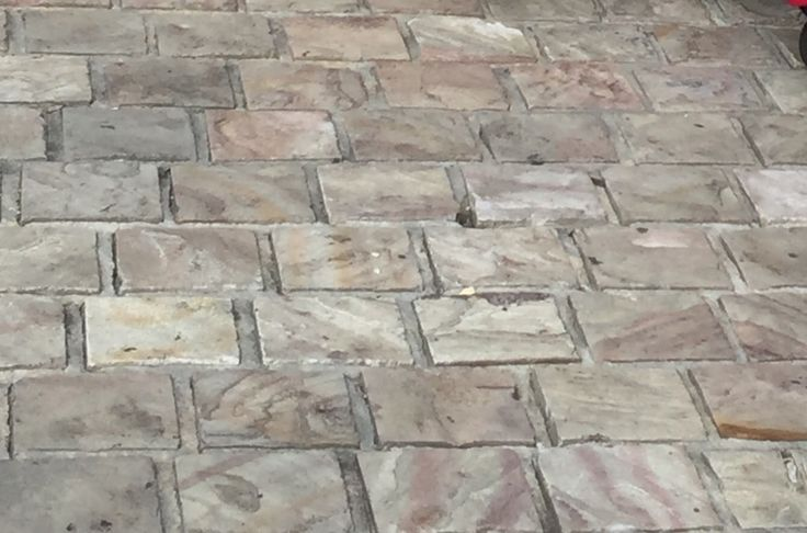 pin 1:This floor is made with these beautiful stone .i took this picture from Melbourne city outside the SBS building .its looks strong ,elegant ,and durable .