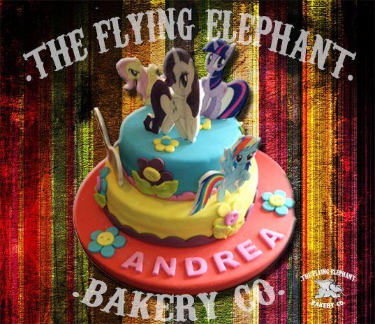 My little pony cake. Fondant, gum paste and edible print