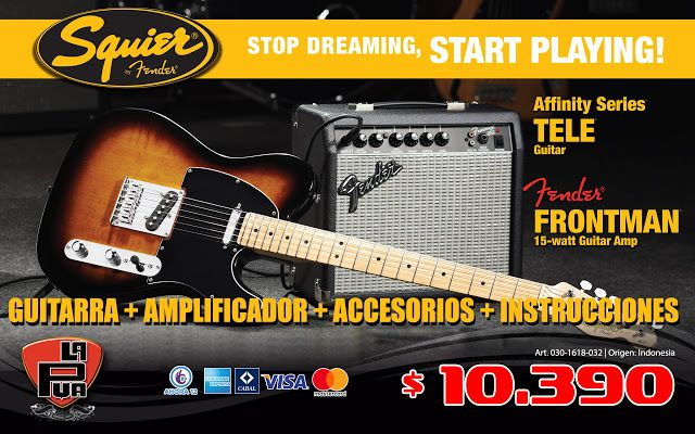La Púa San Miguel: SQUIER PACK STAR PLAYING, Guitarra AFFINITY Teleca...