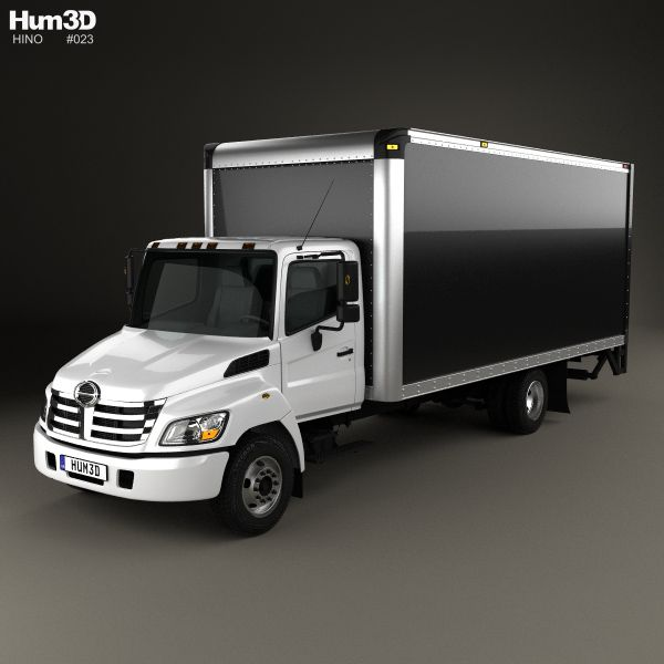 Hino 195 Hybrid Box Truck 2012 3d Model From Humster3d Com: 21 Best Hino 3D Models Images On Pinterest