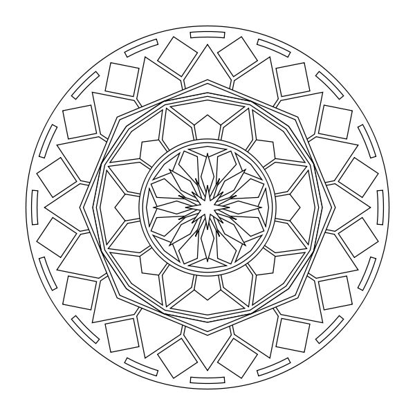 Free printable mandala coloring pages mandela ready to for Mandala design coloring pages