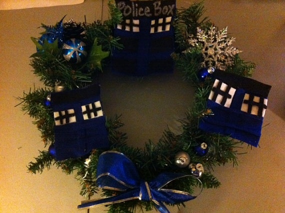 Dr Who wreath  great for Christmas or any other time by luv2right, $12.00: Christmas Wreaths, Holiday Ideas, Gift Ideas, 8 00, Dr Who Wreath, Crafty Board, Dr. Who, Holiday Crafts, 12 00