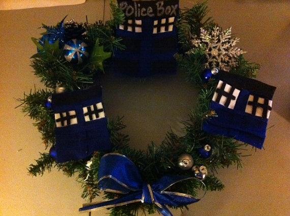 Dr Who Christmas wreath