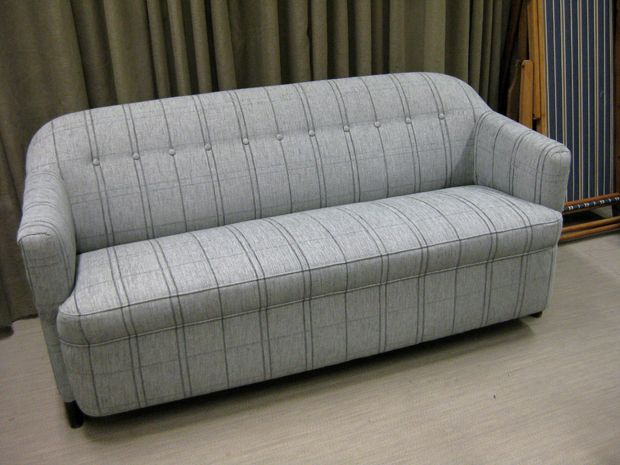 Old sofa upholstered with hemp