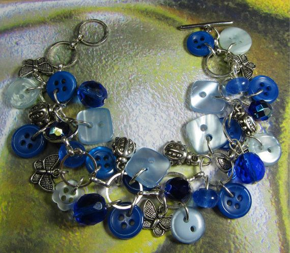 Beaded Lucky Charm Bracelet Fun Style by flirtyfashionjewelry