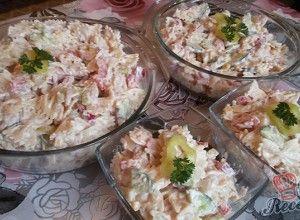 Jednoduchý svěží těstovinový salát