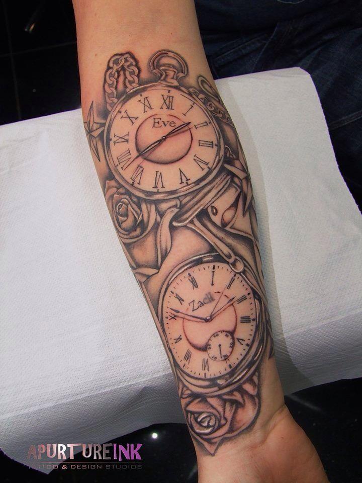 Double Pocket Watch Tattoo : double, pocket, watch, tattoo, Image, Result, Double, Clock, Tattoo, Tattoos, Kids,, Tattoo,