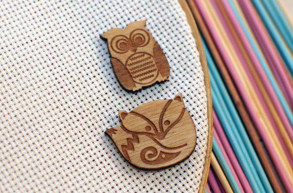 Owl Cross Stitch Minder Cross Stitch Needle Nanny Needle Keeper Owl Magnet Minder Owl Needle Minder