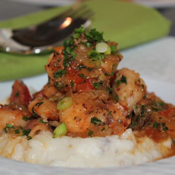 Spicy Shrimp And Andouille Over Charleston-style Grits