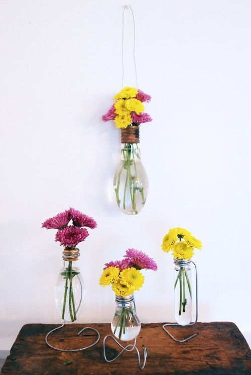 Industrial DIY Light Bulb Vase | Shelterness
