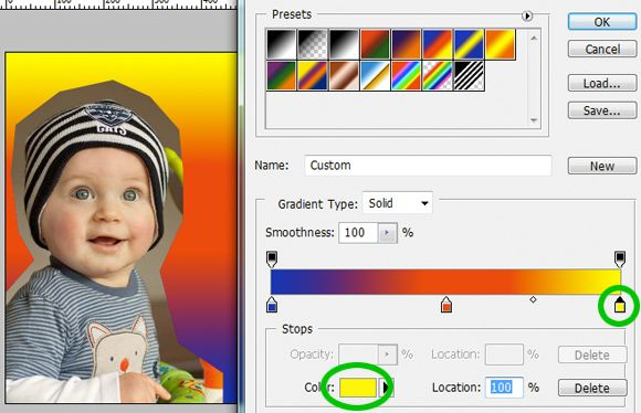 The Info Palette: Using Photoshop's Gradient layer