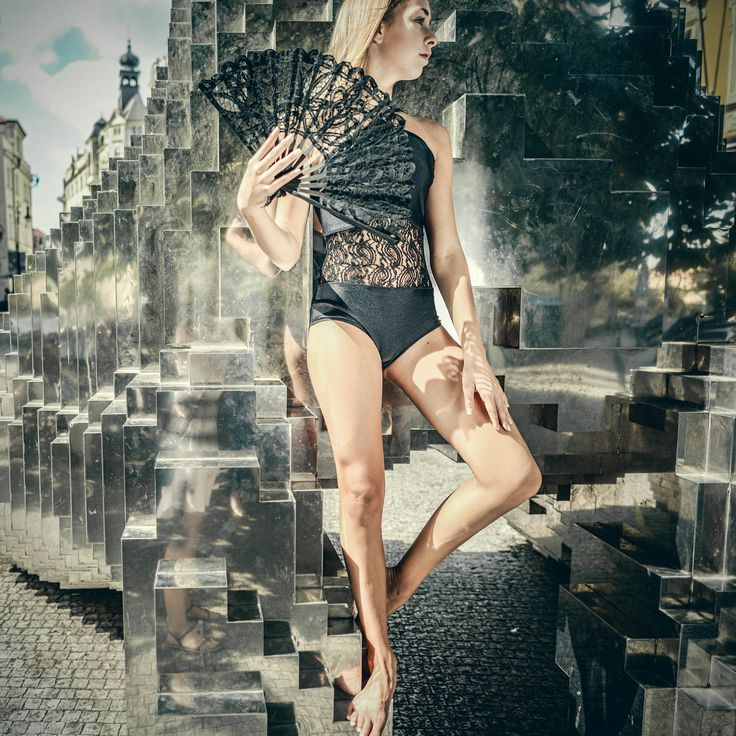Black/lace leotard... Luxury... Swimsuit too.. Siluet YOGA WEAR by Eva Plzáková ~ MADE with LOVE for YOU ~  #siluetyogawear #madewithloveforyou