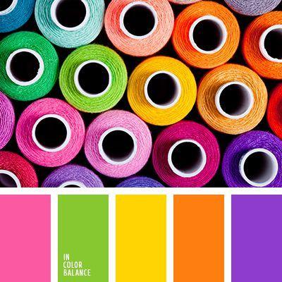 Цветовая палитра №2097 Colour spools and colour selection.