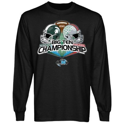 Michigan State Spartans vs. Ohio State Buckeyes 2013 Big Ten Football Championship Game Dueling Long Sleeve T-Shirt