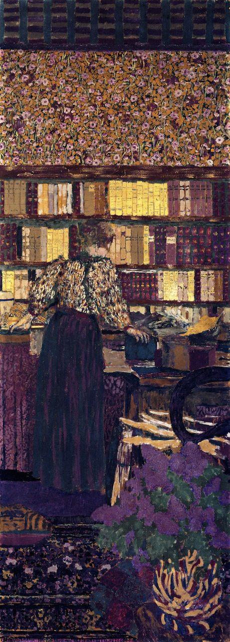jean-édouard vuillard), figures in an interior: choosing a book, 1896.