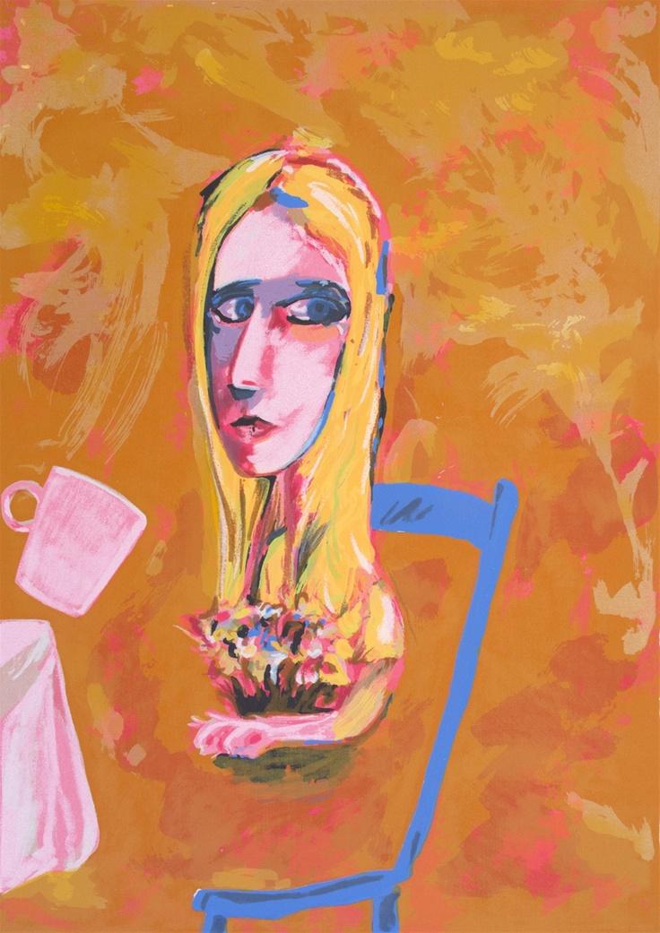 Charles Blackman ~ Golden Alice