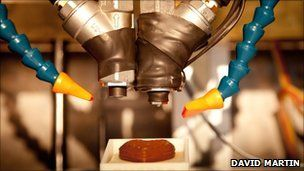 3D Chocolate Printer. A 3D printer that uses chocolate has been developed by University of Exeter researchers - and it prints layers of chocolate instead of ink or plastic.