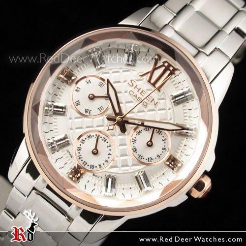 Casio Sheen Cut Glass SWAROVSKI ELEMENTS Watch SHE-3029SG-7A, SHE3029SG