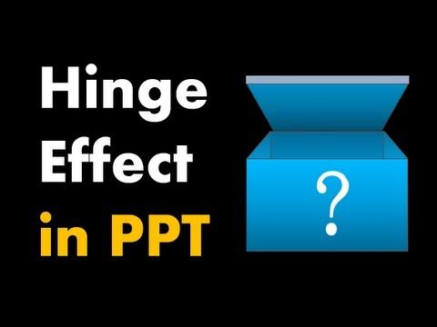 How to Make a Hinge Effect - Advanced PowerPoint Animation Tutorial - YouTube