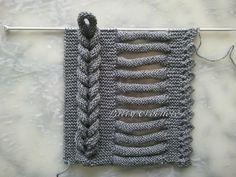 L'écharpe à la tresse photo tuto - How to knit this beautiful braid, tut