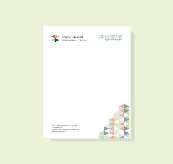 Sample Letter Head Professional Letterhead Template Free