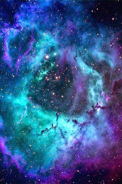 Rosette Nebula Deep Space Heavens Iphone Background