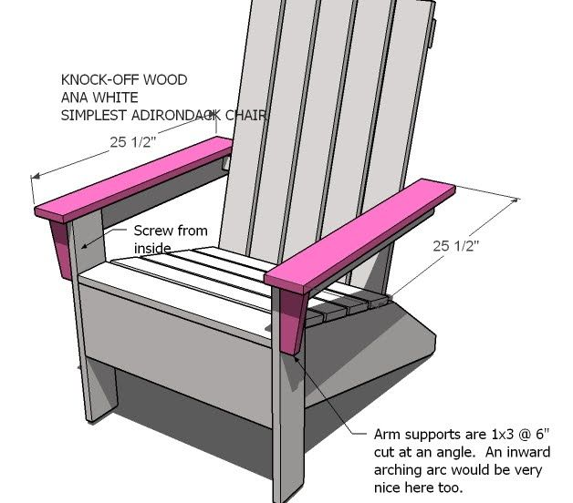 Adirondack Chair Plans Ana White | Ana's Adirondack Chair - DIY Projects