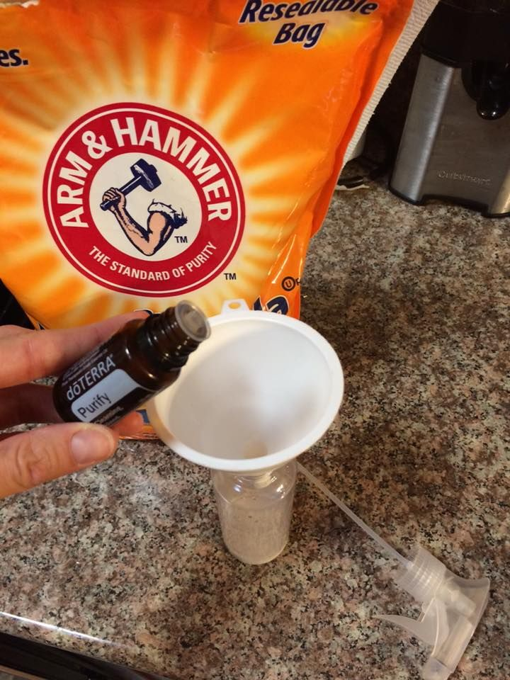 Interested in getting rid of toxic cleaners such as Febreze? Take a spray bottle fill it with the following and tada! Instant fabric freshener, mattress spray, pillow spray, room deodorizer...  -2 T. Baking soda -2 T. White vinegar or witch hazel -10 drops Purify essential oil (could also use some lavender, lemon and/or lime, and pine) -Fill rest of 8oz spray bottle with hot water.   Shake until mixed up well! Recipe courtesy of Beth Danowsky.