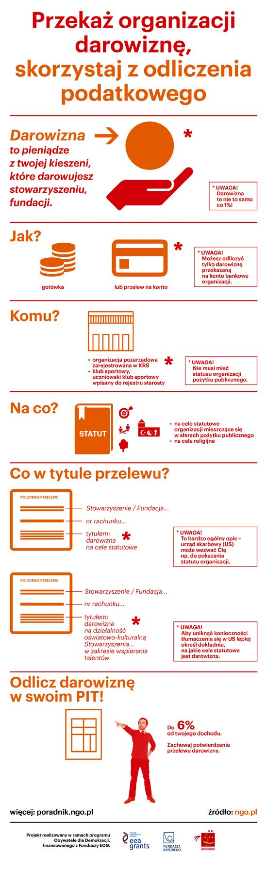 Przekaż NGO darowiznę, skorzystaj z odliczenia podatkowego - poradnik.ngo.pl