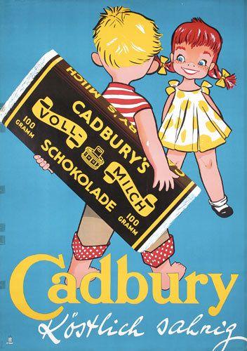 Vintage Advertising Posters | Circa 1930 Cadbury