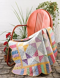 love: Quilts Patterns, Beautiful Quilts, Love Quilts, Outdoor Chairs, 30 S Colors, Scallops Border, Colors Together, Metals Chairs, 30 S Quilts