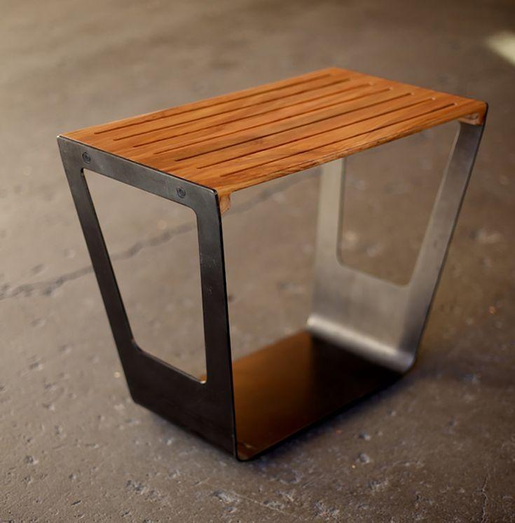 Giddyup Stool | Metal and Wood (525.00 USD) by Quartertwenty