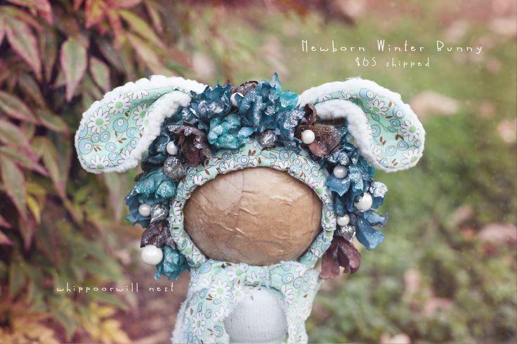 Cream n white newborn ears for Gibbs-pre order / Whippoorwill Nest Boutique
