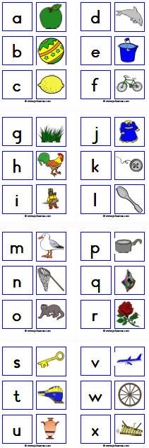 Beginklankmemorie  Je moet auditief, goed luisteren dus met welke letter het woord begint.